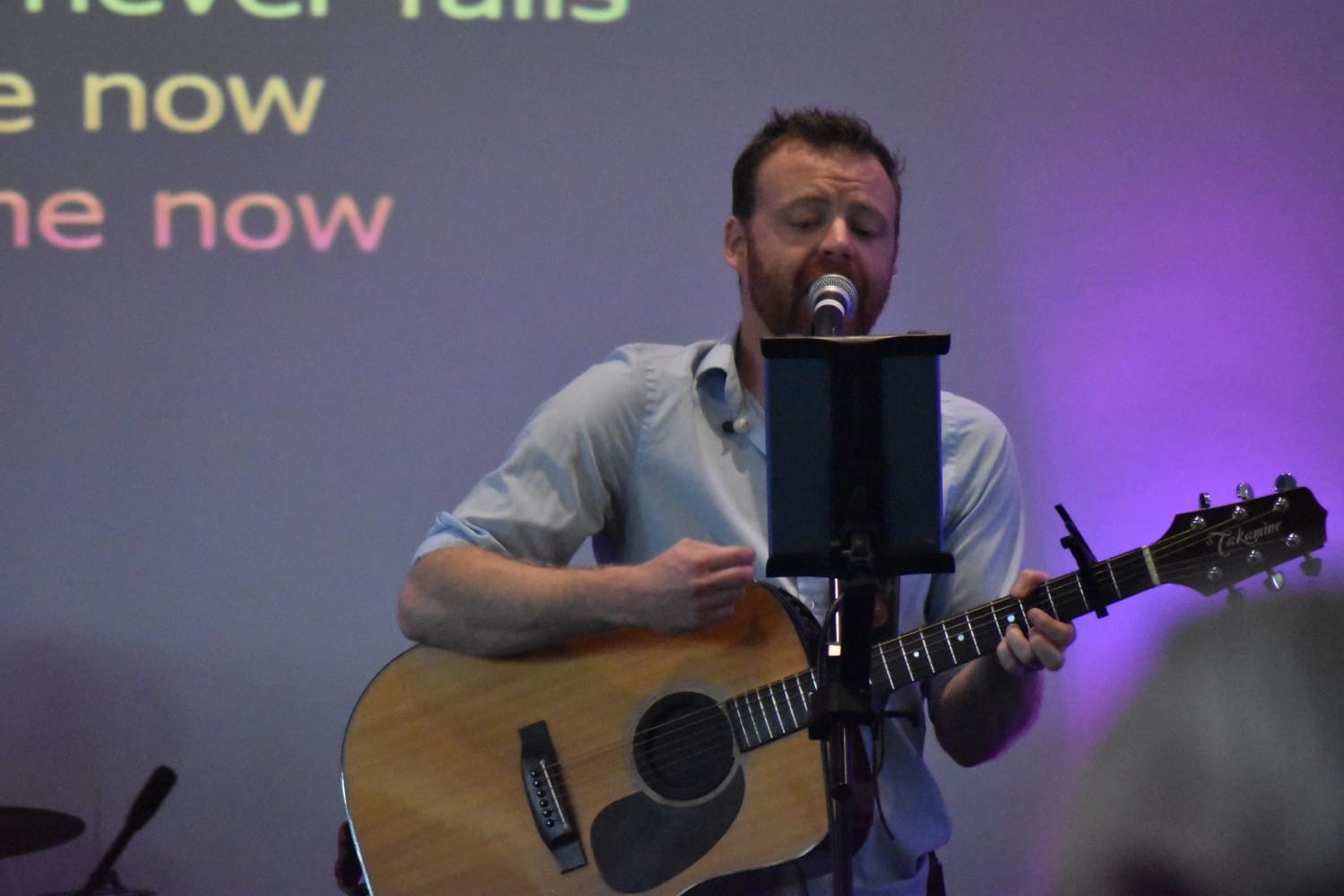 Scott Leading worship